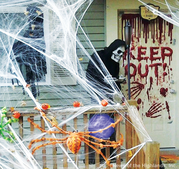Photo by Suzanne Tagliaferro This home on Mailler Avenue was ready for Halloween by mid-October. Will trick-or-treaters be brave enough to knock on the door.