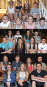 In the 2008 and 2012 photos, Cole and Sabrina Toto are sitting next to Lauren and Scott Pinkham in the first row. Samantha and Nick Tighe along with Brooke and Colin Reilly are lined up behind them. Cole was not available when the final photo was taken on May 13.