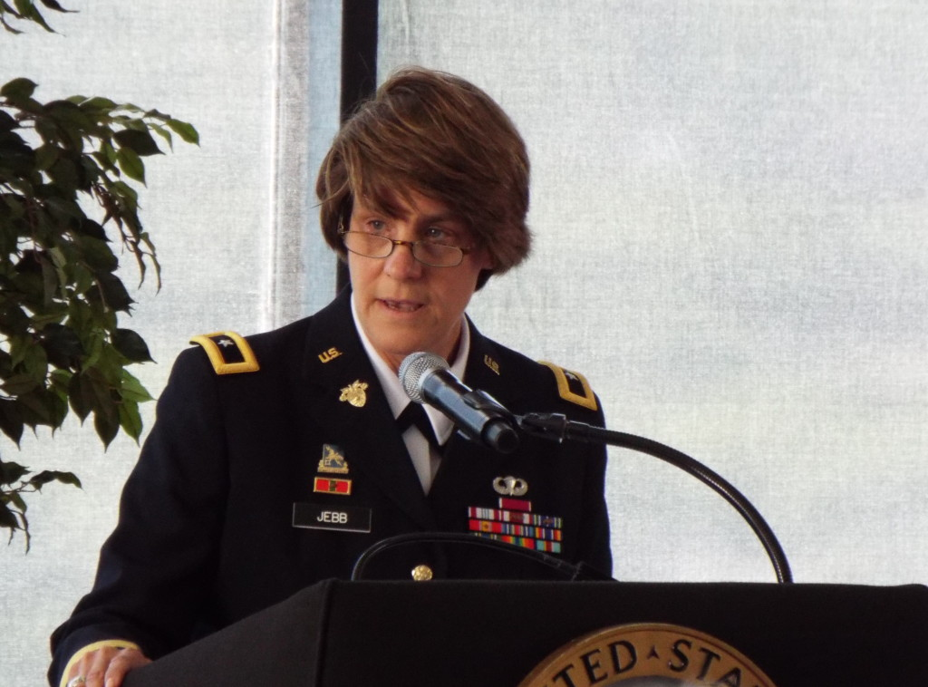 An investiture ceremony was held earlier today to recognize Cindy Jebb as the new Dean of the Academic Board at the United States Military Academy. Nominated by President Barack Obama, she is the first female to hold the position. Jebb was also promoted from colonel to brigadier general.