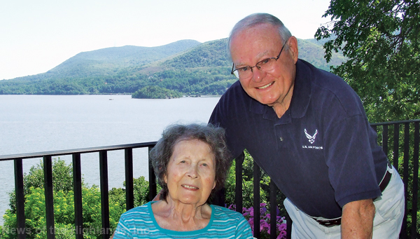 Photo by Ken Cashman Cornwall's 2016 grand marshals, Ed and Floranne Moulton, on the deck of their home in Cornwall-on-Hudson.