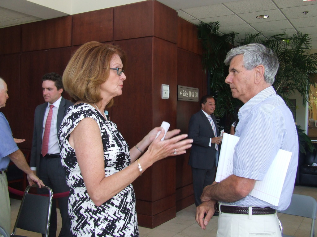 After this morning's meeting, Cornwall Supervisor Richard Randazzo repeated his concerns in a conversation with interim hospital president & CEO Joan Cusack-McGuirk.
