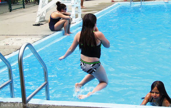 File photo Campers enjoy the pool every summer. But once every four years, the Town has to fix a major leak.