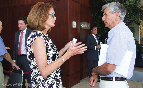 Photo by Ken Cashman On July 22, Town Supervisor Richard Randazzo told Joan Cusack-McGuirk (the hospital's interim CEO and president) that local officials should have been warned about the ER's potential closing.