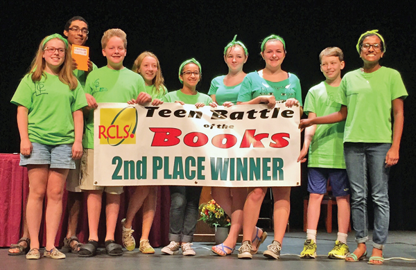 """Contributed photo Nine students represented the Cornwall Public Library in the """"Battle of the Books,"""" which was held at SUNY Orange."""