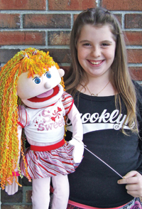 "Photo by Jason Kaplan After a crowd-pleasing ventriloquist performance at the Cornwall Middle School talent show, Kimmy and fifth grader Meagan Clark will be auditioning for ""America's Got Talent."""