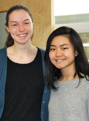 Kristen Henry and Jessica Wu will represent Cornwall in the regional finals of the Poetry Out Loud Competition.