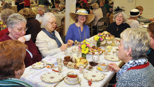 Photo contributed The annual Victorian Tea isn't just a casual gathering. Fine China is used and guests dress in their Victorian best. This year's event will be Feb. 19.