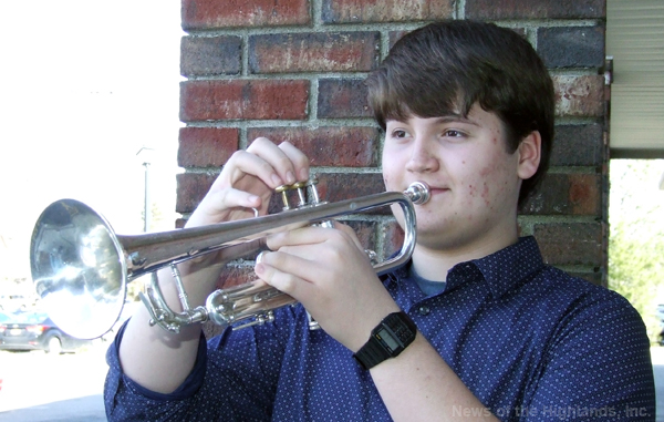 For the second year in a row, Zach Hommel will travel up to Syracuse, with trumpet in hand, to perform in the New York State Band Director's Association Concert Band.