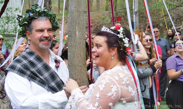 File photo James Huba and Carly Rivas were married at last year's Beltane Festival. They're keeping this year's honorees a secret. The festival is celebrating its 10th anniversary.