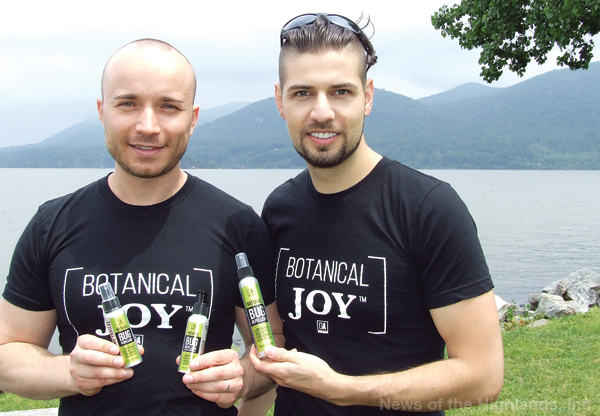 Max Loskutnikov and Dino Alexander have developed an all-natural alternative to bug repellent containing chemicals. The repellent comes in a spray and lotion and is effective in warding off ticks and mosquitos.
