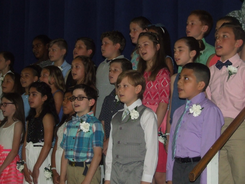 "The COH fourth-graders sang ""You Can Count on Me"""