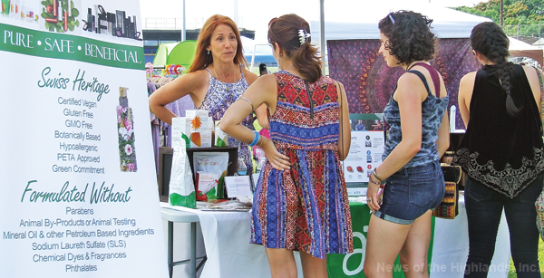 There wasn't just food at the Hudson Valley Vegan Food Festival. Shoppers could buy lotions that didn't contain animal by-products.