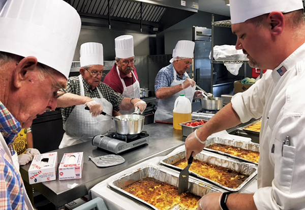 The Orange County Office for the Aging recently completed a six-week class which taught senior men how to prepare simple meals