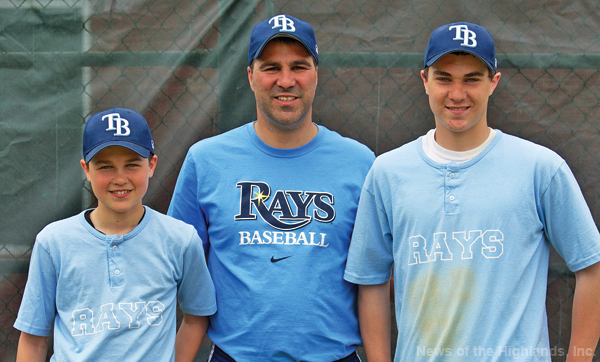 Author Christopher Trieste with his sons Ryan and Tyler.