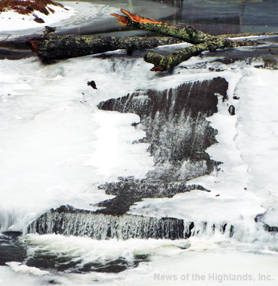 Photo by Jason Kaplan It felt like spring, at least for two days last week. The near 60-degree temperatures reached on Jan. 12, were enough to thaw the Moodna Creek flowing underneath the Route 32 bridge.